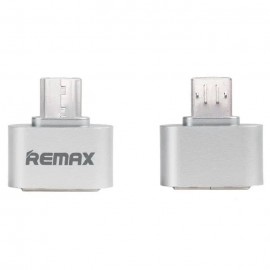 Adapter microUSB to USB A Remax OTG Silver